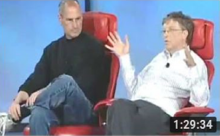 Steve Jobs and Bill Gates Together at D5 Conference 2007