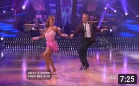 Aaron Carter & Karina In Dancing With The Stars