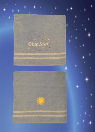 Blue Star Bath Towel