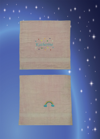Katherine * Bath Towel * Rainbow Star Light