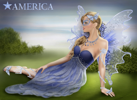 American Blue Star Light Fairy Kate America